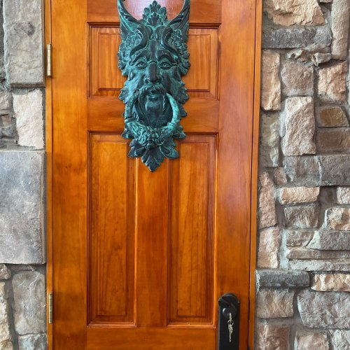 Secret Chambre Door with Middle-Earth Forrest Man Knocker.